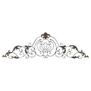 Crown Iron Scroll Wall Decor Sculpture