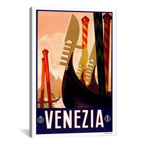 iCanvas Venezia Advertising Vintage Poster #5256 Canvas Print Wall Art