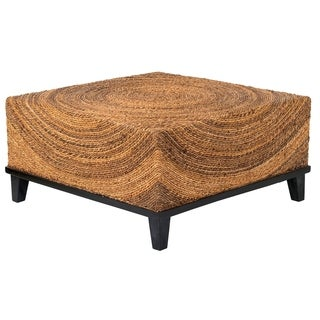 Decorative Elkton Natural Tan Square Coffee Table