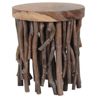 Decorative Heppner Rustic Brown Specialty Accent Table