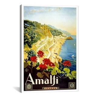 iCanvas Amalfi Advertising Vintage Poster #5241 Canvas Print Wall Art