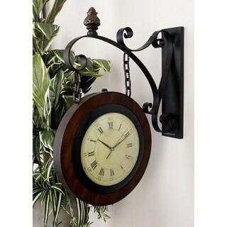 Metal 2-sided Wall Clock
