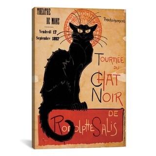 iCanvas Tournee du Chat Noir Advertising Vintage Poster #5288 Canvas Print Wall Art