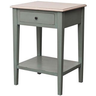 Decorative Detroit Casual Grey Square Accent Table