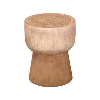 East At Main's Decorative Fossil Modern Tan Specialty Accent Table