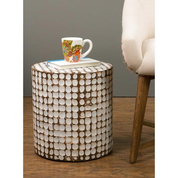 Shop Decorative Harper Modern Off White Rectangle Accent