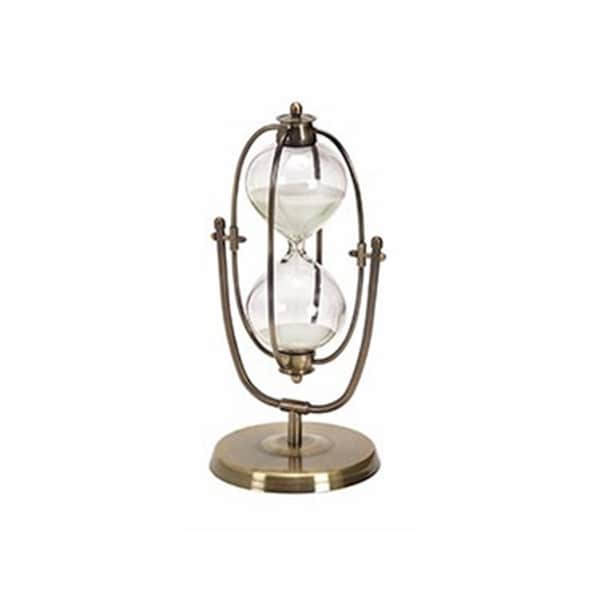 Metal/ Glass 30-minute Hourglass Entertaining Table Decor