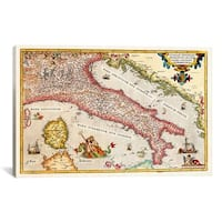 iCanvas Antique map of Italy Canvas Print Wall Art