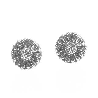 Alluring Sunflower .925 Sterling Silver Stud Earrings (Thailand)
