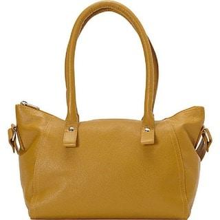 SHARO Bags Mustard Leather Handbag