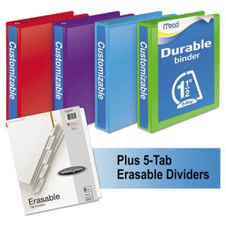 Mead Durable D-Ring View Binder Plus Pack with 1.5-inch Cap|https://ak1.ostkcdn.com/images/products/10068993/P17213374.jpg?impolicy=medium