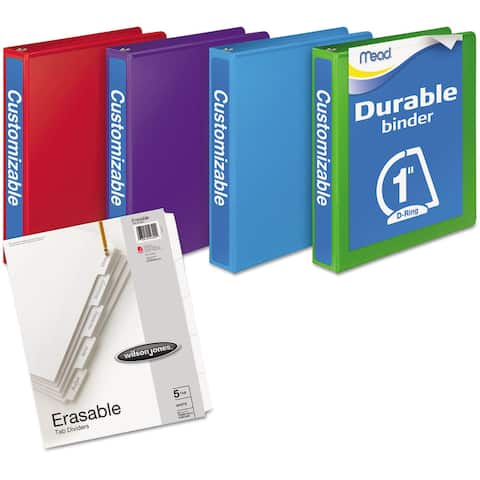 Mead D-Ring View Assorted Colors Binders Plus Pack