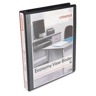 Universal Round Ring Economy View Black Binder