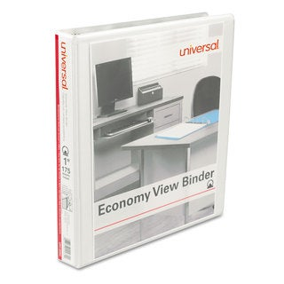 Universal Round Ring Economy View White Binder