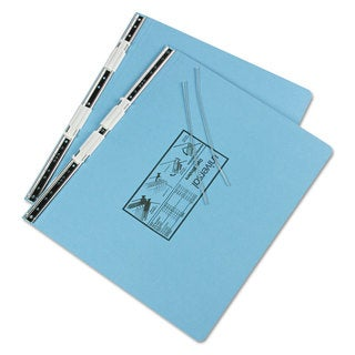 Universal Pressboard Hanging Light Blue Data Binder (Pack of 4)