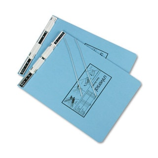 Universal Pressboard Hanging Light Blue Data Binder