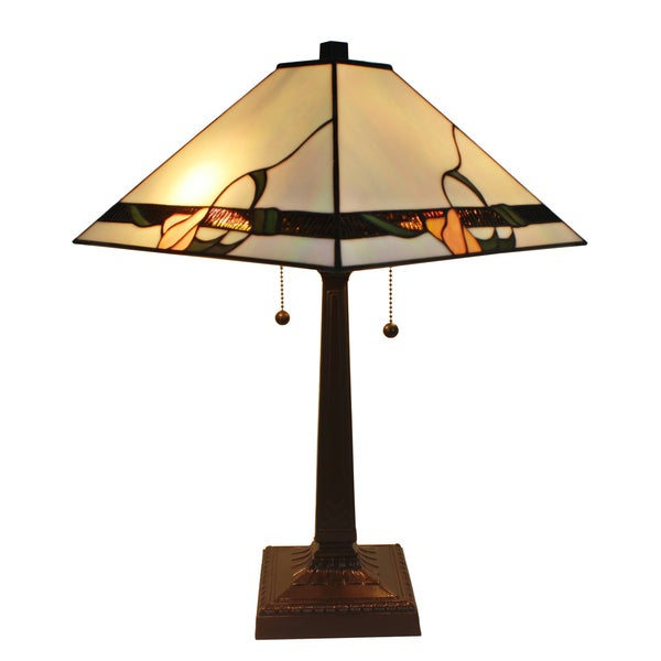 Shop Amora Lighting Tiffany Style Mission 23 Inch Table