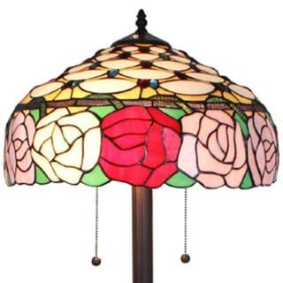 Amora Lighting Tiffany Style Roses 61-inch Floor Lamp