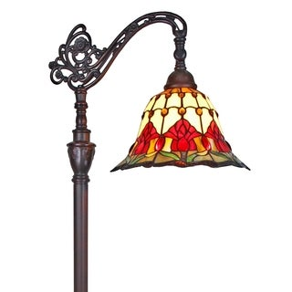Amora Lighting Tiffany Style 62-inch Tulips Reading Floor Lamp