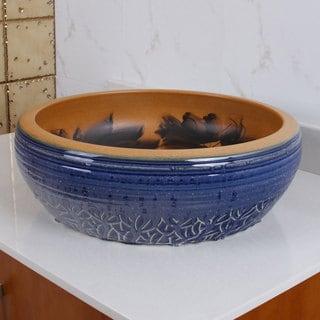 ELIMAX'S 2008 Sapphire Glaze Outlook Pattern Porcelain Ceramic Bathroom Vessel Sink