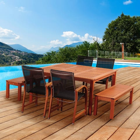 Amazonia Piccola Eucalyptus Wood 7 Piece Patio Dining Set