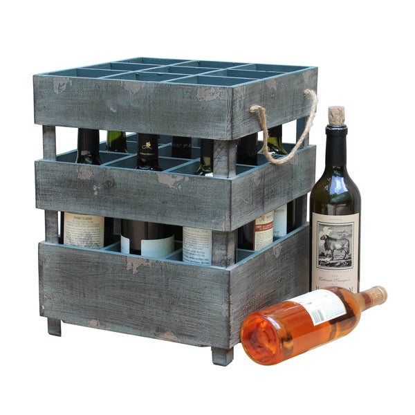 Antique Style Stackable Wooden Wine Crates - Free Shipping Today ...