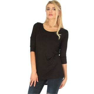 Lyss Loo Women's Hi-Low Tunic Top With Side Slits