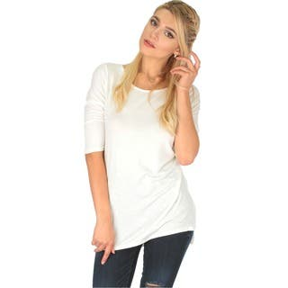 Lyss Loo Women's Hi-Low Tunic Top With Side Slits|https://ak1.ostkcdn.com/images/products/10069212/P17213516.jpg?impolicy=medium