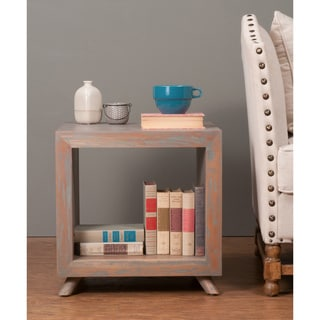 Decorative Merlin Modern Grey Cube Accent Table