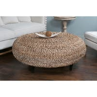East At Main's Decorative Millersburg Natural Tan Round Coffee Table