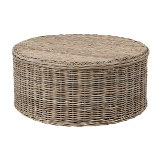East At Main's Decorative Oakridge Natural Brown Round Coffee Table
