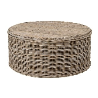 Decorative Oakridge Natural Brown Round Coffee Table