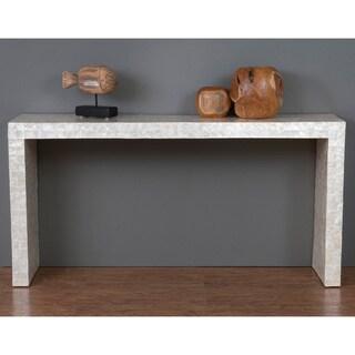 Decorative Selma Modern Off-white Rectangle Console Table
