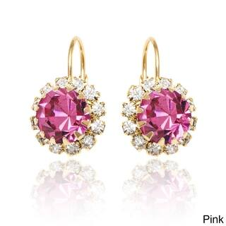 Goldplated Crystal Flower Leverback Earrings|https://ak1.ostkcdn.com/images/products/10069275/P17213568.jpg?impolicy=medium
