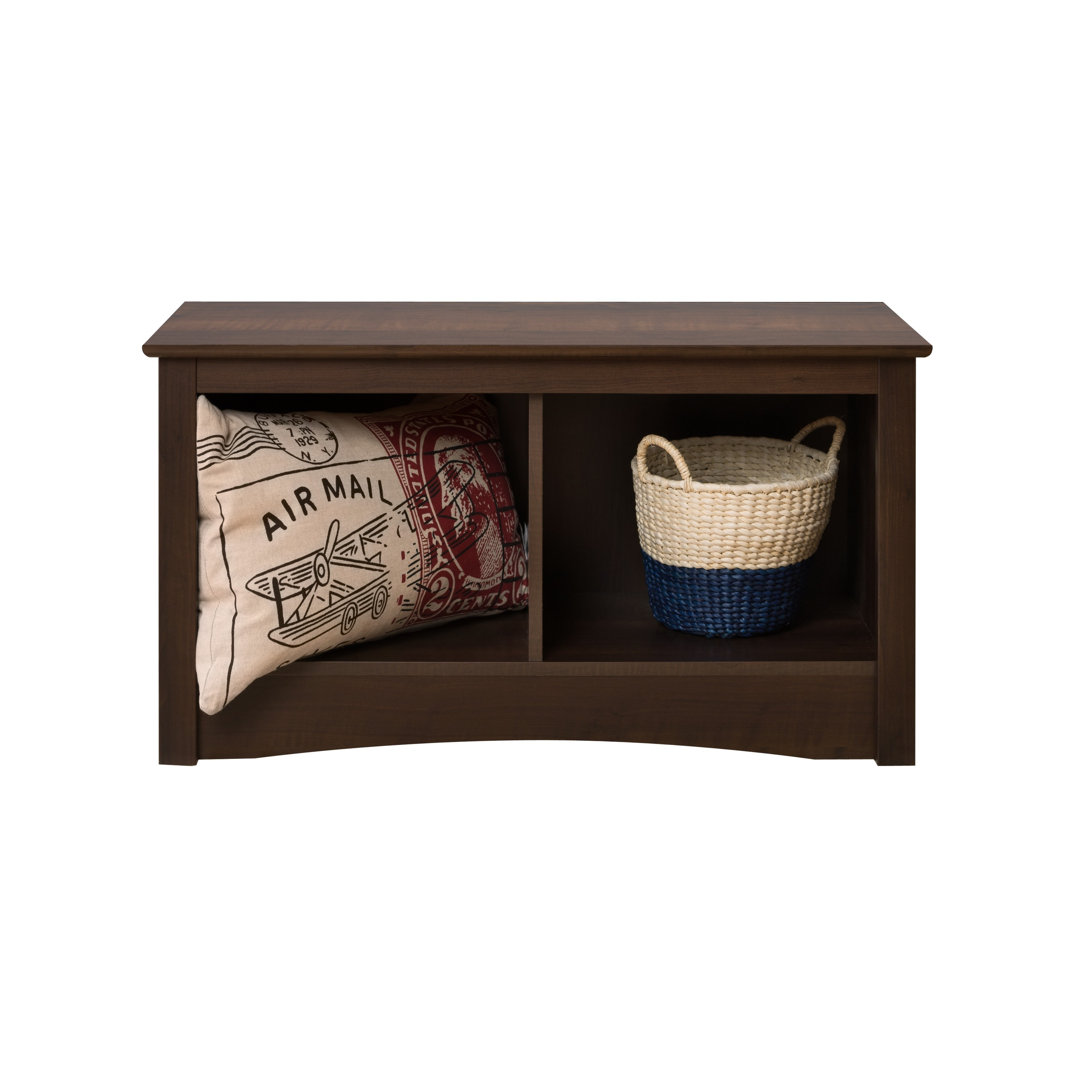 Prepac Ellsworth Espresso Twin Cubbie Storage Bench
