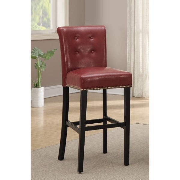Shop Red Velvet Barstools Set Of 2 Free Shipping Today