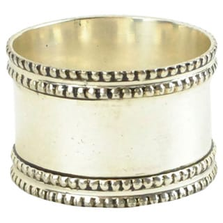 Silver Band Napkin Ring (Set of 4)