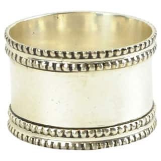 Silver Band Napkin Ring (Set of 4)|https://ak1.ostkcdn.com/images/products/10069297/P17213577.jpg?impolicy=medium