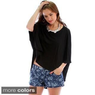 Lyss Loo Women's Hi-Low Oversized Crop Top