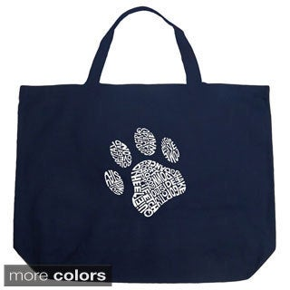 Los Angeles Pop Art Dog Paw Shopping Tote Bag