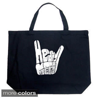 LA Pop Art Heavy Metal Fingers Shopping Tote Bag
