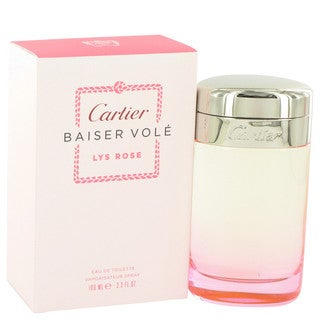 Cartier Baiser Vole Lys Rose Women's 3.3-ounce Eau de Toilette Spray