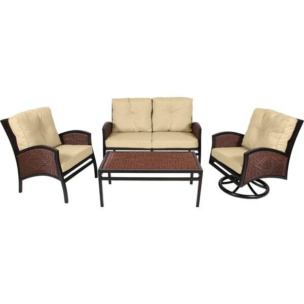 Shop MIYU Furniture Monroe Collection 4-piece Seating Set
