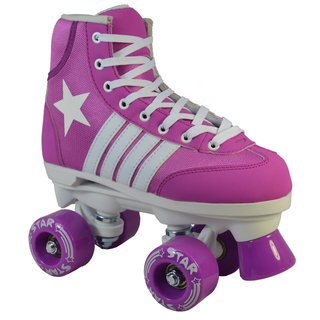 Epic Purple Star Quad Indoor / Outdoor Roller Skates
