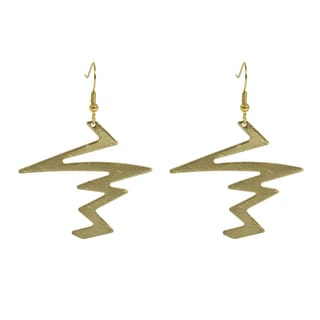 NEXTE Jewelry Goldtone Lightning Bolt Dangle Earrings