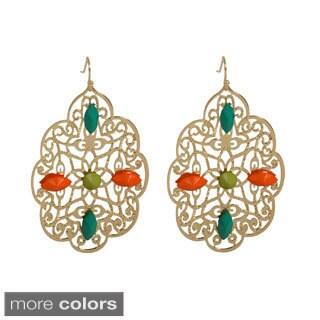 NEXTE Jewelry Filigree Beaded Dangle Earrings