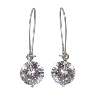 NEXTE Jewelry Silvertone Cubic Zirconia Solitaire Wire Dangle Earrings|https://ak1.ostkcdn.com/images/products/10069397/P17213662.jpg?impolicy=medium