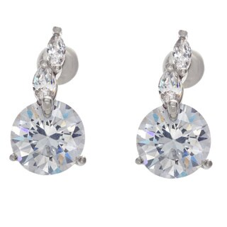 NEXTE Jewelry Large Round Cubic Zirconia Stud Earrings