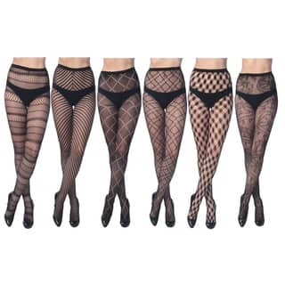 Elegant Assorted Fishnet Lace Tights (Pack of 6)|https://ak1.ostkcdn.com/images/products/10069474/P17213727.jpg?impolicy=medium