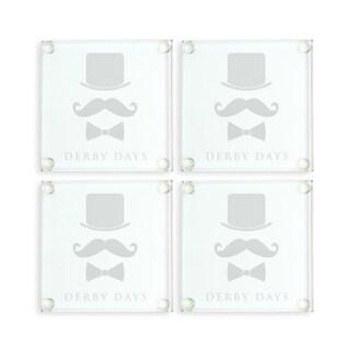 Kentucky Derby Glass Coasters (Set of 4)